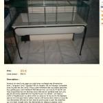 Cage à lapin vendue comme cage à chinchillas (qui a servi pour des chinchillas)