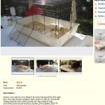 Cage à lapin vendue comme cage possible pour chinchilla : 55cm * 50cm , accessoires plastique
